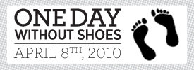 graphic for One Day Without Shoes campaign by TOMS shoes