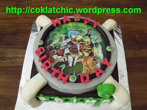 ... Ben10 Omnitrix Birthday cake, Mbak, nama yg ultah Prima yang ke 6thn