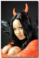devil eli (SirPhoto) Tags: red portrait woman beautiful donna glamour eyes nikon occhi sguardo balck devil rosso ritratto nero diavolo d700 fotoinstudio sirbrun