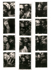 I guess 7 people are too many (VoodooDahl) Tags: bw fun photobooth crowded culvercity photostrip backstagebar
