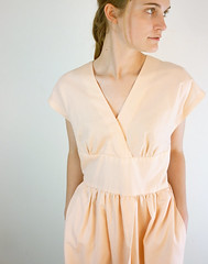 Vintage Apricot Orchard Wrap Dress