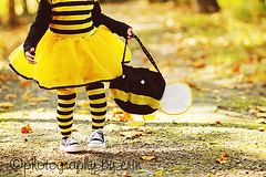 What are you going to BEE for Halloween :o) (lilpuddlejumpers) Tags: light halloween fun costume woods nikon toddler trickortreat 85mm dressup naturallight bee bumblebee halloweennight nikond300