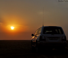 VX-R part 2  (BuSuLTaN) Tags: sun set toyota   qatar   vxr