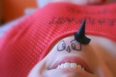 Happy October, 31. (Honey Pie!) Tags: red halloween vermelho polkadots bolinhas ameliepoulain chin happyhalloween poulain queixo diadasbruxas améliepoulain melinadesouza