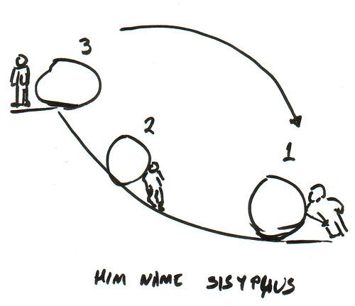 366 Cartoons - 274 - Him Name Sisyphus