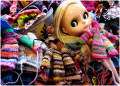 here we go again...! (megipupu) Tags: doll knit blythe mondrian cardigan mondi bl mondy megipupu