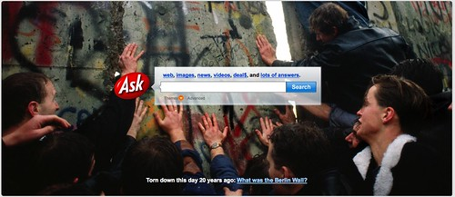 Ask.com Berlin Wall Home Page