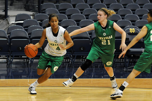 NCAA Women's Basketball Notre Dame Training 029 by tsavoja.