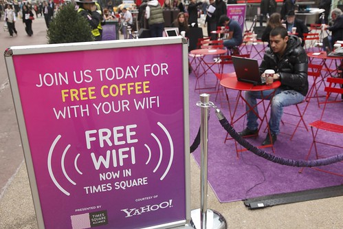 Yahoo! & Times Square Alliance Free WiFi