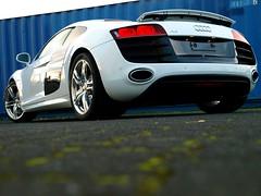 Audi R8 V10 (Philipp Lcke) Tags: cars photography olympus e3 audi luxury coupe avant v8 v10 c6 exotics r8 rs6 carspotting 1260 ibiswhite icesilver sideblades misonred autoweber