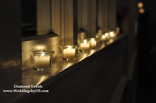 Candles on ledge at Holiday Inn Valley View