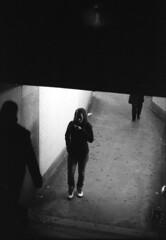 (andre dos santos) Tags: street nyc newyorkcity blackandwhite newyork film public train canon underground 1 fuji publictransportation harlem manhattan rail f1 upper 55mm 400 transportation transit mta push neopan fl masstransit sugarhill f12 145 uppermanhattan plusone 145th pushonestop