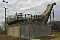 ski jump (Dan Anderson (dead camera, RIP)) Tags: winter ski minnesota sport fly flying jump jumping skiing downhill nordic olympic twincities bloomington mn hylandhills bushlake bushlakeskijump