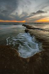 Convergence (Will Shieh) Tags: ocean california sunset sky beach coast rocks sandiego swami encinitas sigma1020mm wondersofnature canonxsi