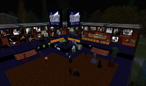 the savoy jazz club virtual world second life