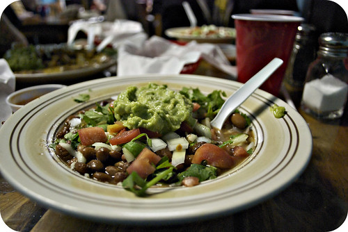 Hugo's- my delicious bowl 'o beans and veggies
