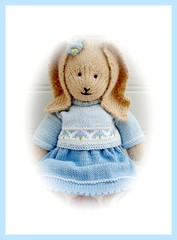 BLUEBELL PORTRAIT (Mary Jane's TEAROOM) Tags: blue rabbit alpaca toy knitting pattern yarn cotton knitted bluebell