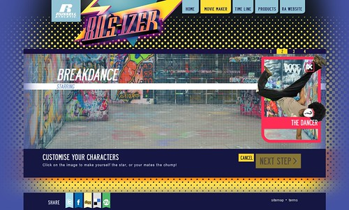 Russell Athletic 80s-izer viral movie maker - breakdancer