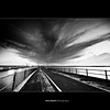 Vanish ([ Kane ]) Tags: white storm black lines clouds dark pier mood australia brisbane qld queensland kane gledhill kanegledhill wwwhumanhabitscomau kanegledhillphotography