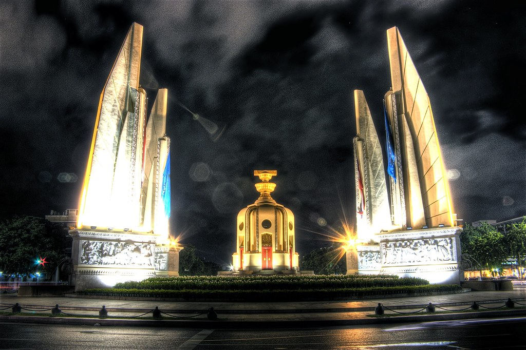 Bangkok Democracy Monument at night