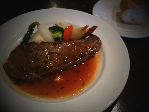 鎌倉でランチなう。凄いステーキが出て来た⁈時間がやばい。 #apbnoff