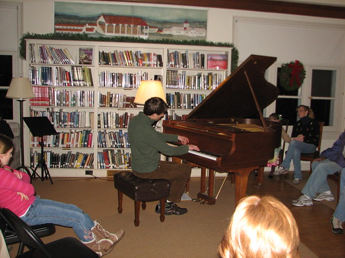 Music at the library, Westport, NY