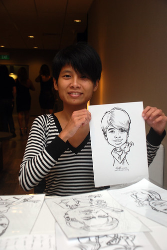 Caricature live sketching for Lonza - 7