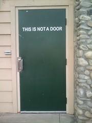 Door: This Is Not A Door.