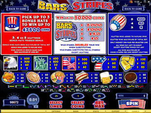 free Bars and Stripes slot mini symbol