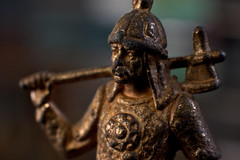 Upper part of a medieval knight bronze statuette