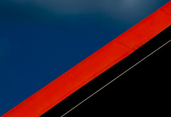 Slip (Gremxul) Tags: blue light red abstract black colour lines architecture composition contrast nikon geometry malta shades diagonal negativespace minimalism nikkor minimilism d80 urbandetail nikond80 unusualviewsperspectives ministract gremxul maltaarchitecture