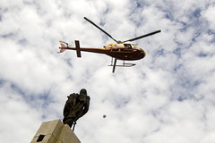 Helicopter Releases First Aid Kits for Haiti Q...