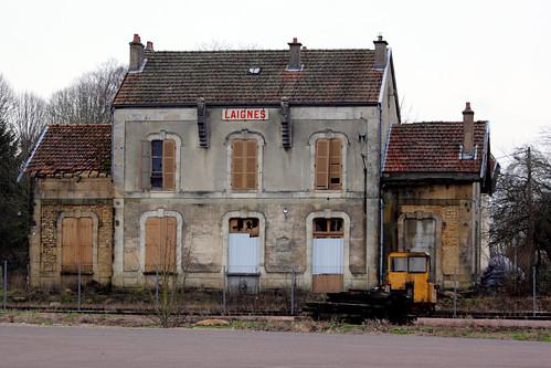 L'ancienne gare de Laignes