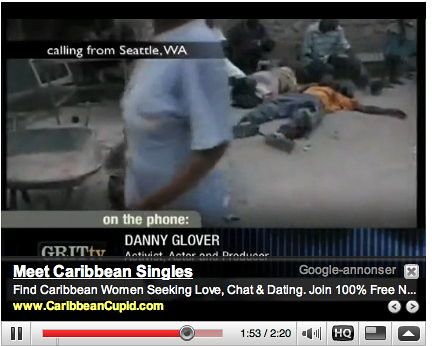 Inapproriate Google ads - Haiti disaster 04