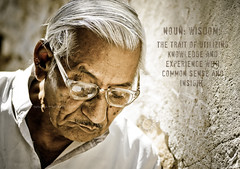 What do we gain out of our experience? (Yug_and_her) Tags: old light portrait people news man eye face hair paper grey glasses nikon fort indian illumination age experience walls cracks wrinkles 70200 f28 jaisalmer rajasthan rading combed d90 neatly