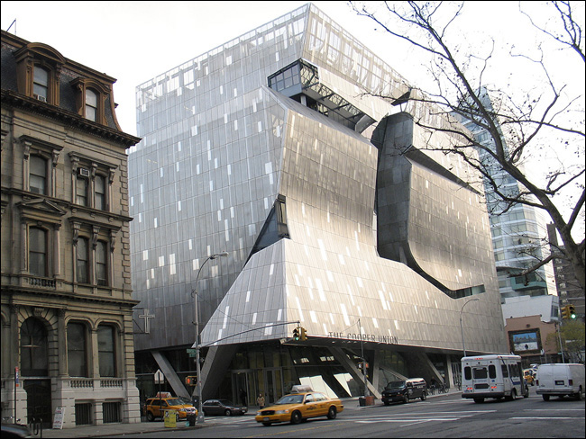 Cooper Union street view, NYC