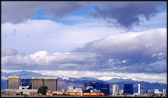 Vegas Distance View with Snow Background (Darius Goins) Tags: snow clouds view pentax lasvegas nevada casino strip redrock distant k20d