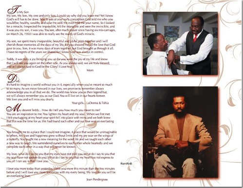 Teddy Pendergrass Program-6