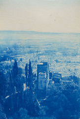 Granada, Spain (Swedish National Heritage Board) Tags: test españa castle forest andalucía ct alhambra granada espagne cyanotype riksantikvarieämbetet alhambragranada torresbermejas theswedishnationalheritageboard