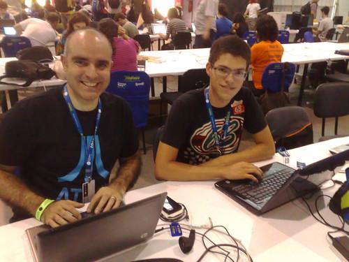 #cparty2010 companheiros de bancada: @rodrigostoledo e @jaderfranca