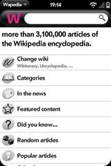 Wapedia on WebOS