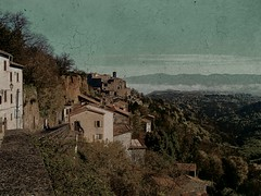 Bomarzo (j. kunst) Tags: street italy house mountain tree castle landscape town italian italia valley lazio bomarzo  recoloured latium