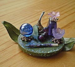 Enchanted Forest Fairy Magic Set ~ 1:12th Scale (Enchanticals~ Death in Family) Tags: wood flowers blue flower cup nature glass metal glitter forest ball miniatures miniature beads leaf bottle berries bottles hard violet spell sparkle plastic fairy acorn fantasy round tulip copper marbles collectible etsy fairies oaks sprites eight enchanted dollhouse dioramas enchantedforest spells crystalball magicwand findings elementals divination forecasting purplebottle roombox acorncap enchantedwoods 112thscale dollhouseminiature onetwelfthscale etsyteams spellwork dollhousescale scaledollhouseminiature enchanticals minitreasures enchanticalsetsy fairycup miniaturesindollhousescale fantasycrafts 112scaledollhousescale fantasydollhousesandminiatures oneinchscalemagical