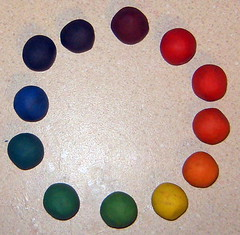 can i tell you how muh i love color wheels? hah! (heidibuol) Tags: color clay rainbows colorschemes colorwheels craftingbeautyschool