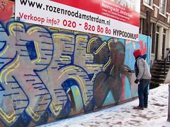 graffiti artist in action (wojofoto) Tags: amsterdam graffiti streetart streetartist action wojofoto rozengracht petro wolfgangjosten