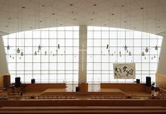 TOKYO CHURCH OF CHRIST: Fumihiko Maki, Shibuya-ku, Tokyo, Sep. 1995 (wakiiii) Tags: japan architecture s5pro 槙文彥