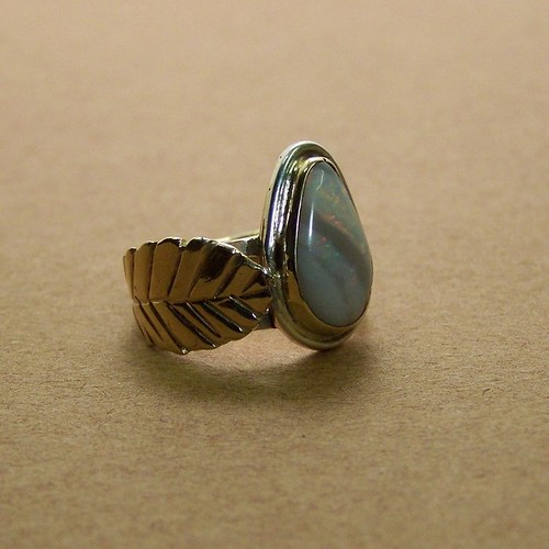 Spirit of the Flame Opal ring in 14k gold