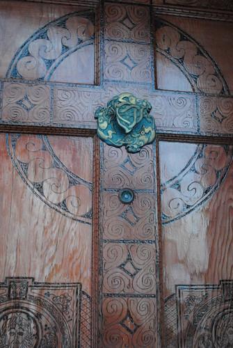 woodburned door