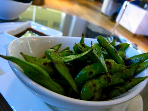 Charred Edamame at LA Market by Kerry Simon