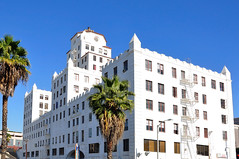 Long Beach, Ca. (RickWarrenPhotos) Tags: california old sky art architecture facade vintage buildings design downtown officebuilding bluesky oldbuildings historic longbeach palmtree fireescape artdeco pike deco longbeachca losangelescounty longbeachcalifornia pineave longbeachcalif nupike oceancenterbuilding downtownlongbeachca